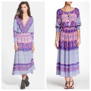 Free People She's a Lady Boho Maxi Dress AA17
